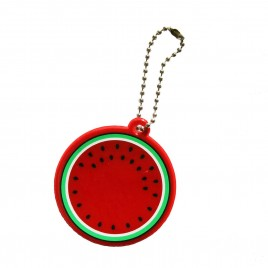 Soft reflector on chain / snap hook - watermelon