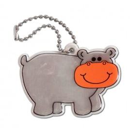 Hipopotam - zawieszka odblaskowa miękka