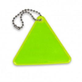 Zawieszka odblaskowa miękka- trójkąt żółty