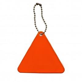 Zawieszka odblaskowa miękka- trójkąt pomarańczowy