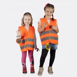 Kamizelka odblaskowa dla dzieci K201/P pomarańczowa