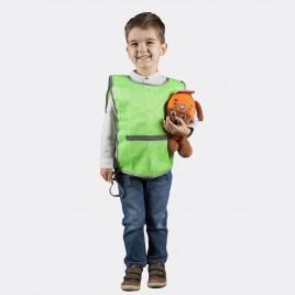 Светоотражающая детская накидка  (зелёная)
