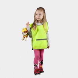 Светоотражающая детская накидка  (жёлтая)