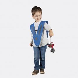 Светоотражающая накидка для детей и молодёжи (голубая)
