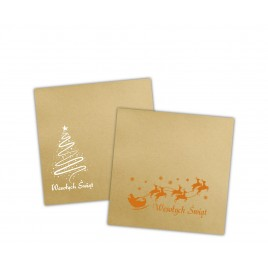Koperty Złote 17x17 cm świąteczny nadruk (250 szt.)