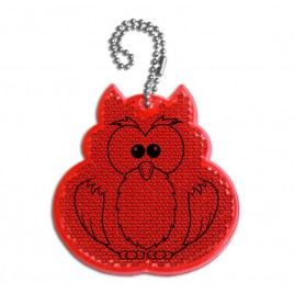 Hard pendant - red OWL advertising gadget