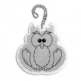 Hard pendant-silver Owl advertising gadget