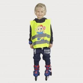 """Cветоотражающий детский жилет YoYo-K203, с нанесённой печатью """"STOP"""""""