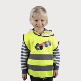 """Cветоотражающий детский жилет YoYo-K203 KID, с нанесённой печатью """"Aвтомобиль"""""""