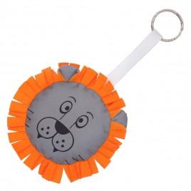 Reflective key hanger LION