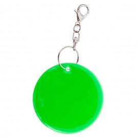 Zawieszka odblaskowa miękka zielona REFLECT