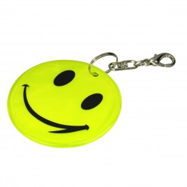 Uśmiech żółty - zawieszka odblaskowa miękka