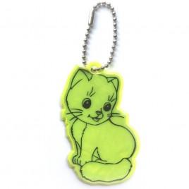 Kot żółty - zawieszka odblaskowa miękka