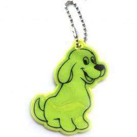Pies żółty - zawieszka odblaskowa miękka