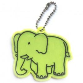 Słoń żółty - zawieszka odblaskowa miękka