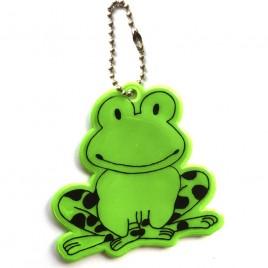 Żaba zielona - zawieszka odblaskowa miękka