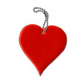 Zawieszka odblaskowa miękka- serce