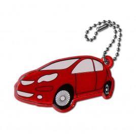 Auto czerwone - zawieszka odblaskowa miękka