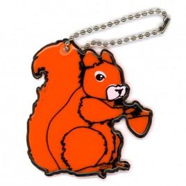 Wiewiórka - zawieszka odblaskowa miękka