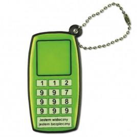 Telefon komórkowy - zawieszka odblaskowa miękka