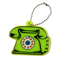 Telefon stacjonarny - zawieszka odblaskowa miękka