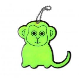Małpa - zawieszka odblaskowa miękka