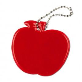 Jabłko czerwone - zawieszka odblaskowa miękka