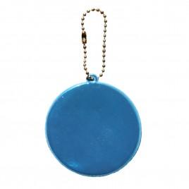 Zawieszka odblaskowa miękka- kółko niebieskie