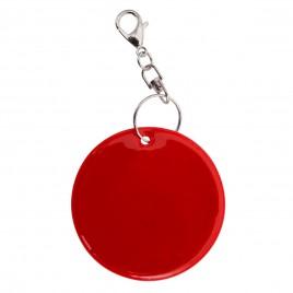 Zawieszka odblaskowa miękka czerwona REFLECT