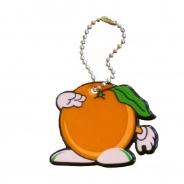 Soft reflector on chain / snap hook – orange