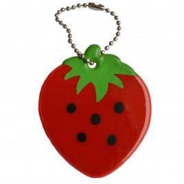 Erdbeere - weicher Reflexanhänger