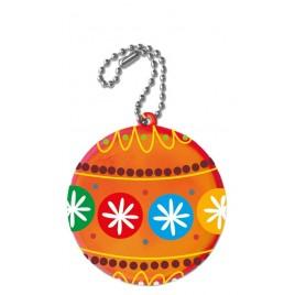 Zawieszka odblaskowa KÓŁKO pomarańczowe- nadruk świąteczny!