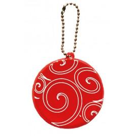 zawieszka odblaskowa KÓŁKO czerwone- świąteczny nadruk!