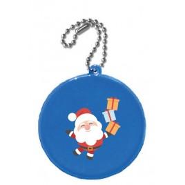 Zawieszka odblaskowa KÓŁKO niebieskie- świąteczny nadruk!