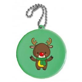 Zawieszka odblaskowa KÓŁKO zielone- świąteczny nadruk!