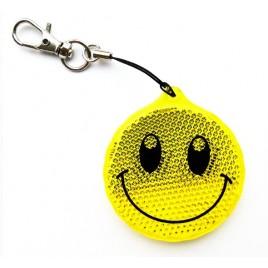 Zawieszka odblaskowa twarda uśmiech żółty