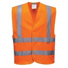Siatkowa kamizelka ostrzegawcza CE C370 pomarańczowa