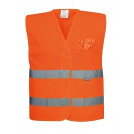 Kamizelka ostrzegawcza - do połowy siatkowa CE C494 pomarańczowa