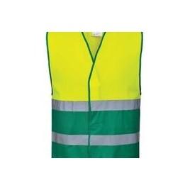 Kamizelka ostrzegawcza dwukolorowa żółto/zielona CE C484 żółta
