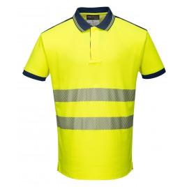 Koszulka Polo ostrzegawcza CE T180 żółta