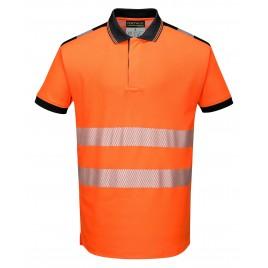 Koszulka Polo ostrzegawcza CE T180 pomarańczowa
