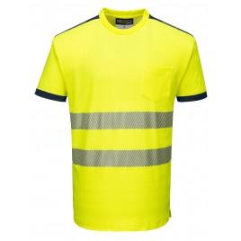 T-Shirt ostrzegawczy CE T181 żółty