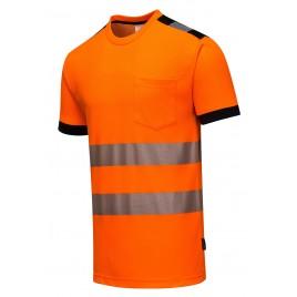 T-Shirt ostrzegawczy CE T181 pomarańczowy