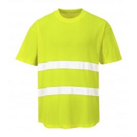 Mesh T-Shirt CE C394 żółty