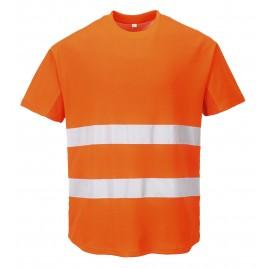 Mesh T-Shirt CE C394 pomarańczowy