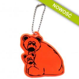 Niedźwiadki pomarańczowe - zawieszka odblaskowa miękka