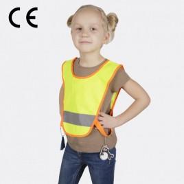 Светоотражающая детская накидка, с резинками по бокам (жёлтая)