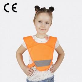 Светоотражающая детская накидка  на резинках (оранжевая)