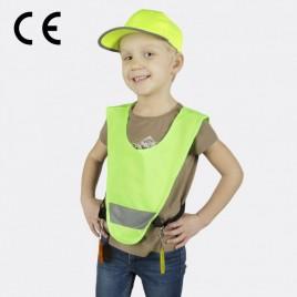 Светоотражающая детская накидка, с резинками по бокам (зелёная)