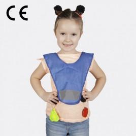 Светоотражающая детская накидка, с резинками по бокам (голубая)